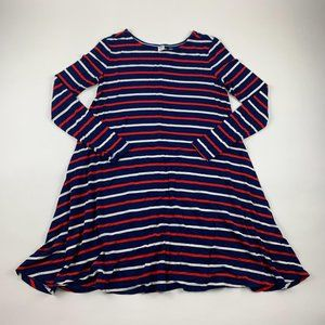 PETITE Old Navy Striped Jersey Swing Dress PS